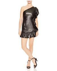 Sandro - Effie Ruffled Metallic Mini Dress - Lyst