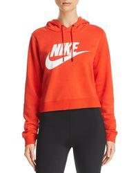 8aa63b08d43b Lyst - Nike Rally Cheetah Print Sweatshirt in Black