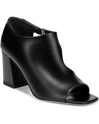 Via Spiga - Women's Eladine Open-toe Leather Booties - Lyst