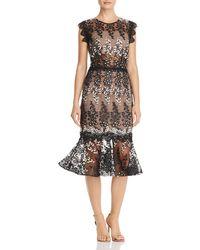 Bronx and Banco - Dalia Illusion Lace Dress - Lyst