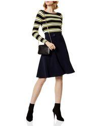 Karen Millen - Flared Military Skirt - Lyst