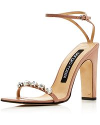 Sergio Rossi - Women's Embellished Leather High - Heel Sandals - Lyst