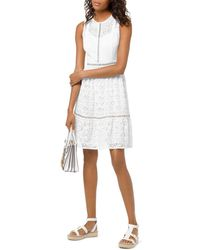 MICHAEL Michael Kors Grommeted Floral - Lace Dress - White