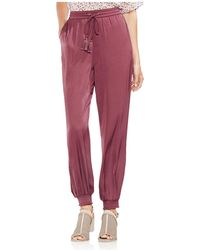 Vince Camuto - Smocked Jogger Trousers - Lyst