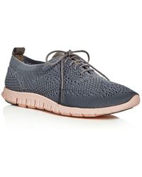 Cole Haan - Women's Zerogrand Stitchlite Knit Lace Up Oxford Sneakers - Lyst