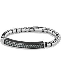David Yurman - Pavé Id Bracelet With Gray Sapphires - Lyst