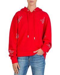 The Kooples - Studded Hooded Sweatshirt - Lyst