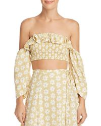 Faithfull The Brand - Sybil Off-the-shoulder Crop Top - Lyst