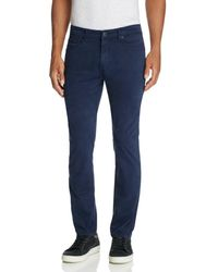 PAIGE - Federal Slim Fit Twill - Lyst