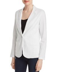 Majestic Filatures - Raw-edge Linen Blazer - Lyst
