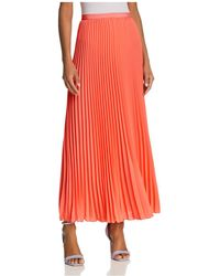 French Connection - Polly Plains Pleated Maxi Skirt - Lyst