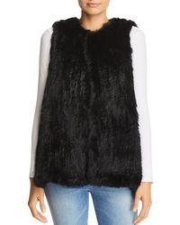 525 America - Rabbit Fur Long Vest - Lyst