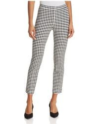 Theory | Gingham Classic Skinny Pants | Lyst