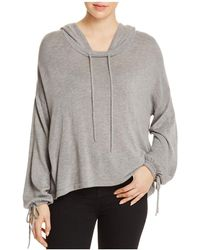 Splendid - Tie-cuff Hooded Sweater - Lyst