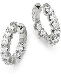 Bloomingdale's - Diamond Inside Out Hoop Earrings In 14k White Gold, 4.0 Ct. T.w. - Lyst