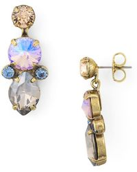 Sorrelli - Iris Faceted Drop Earrings - Lyst
