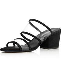 Sol Sana - Women's Ziggy Leather Illusion Block-heel Slide Sandals - Lyst