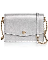 d41b6377e59 Tory Burch - Robinson Mini Metallic Convertible Shoulder Bag - Lyst