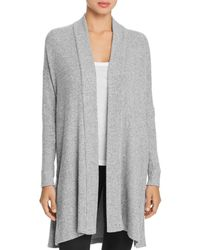 Natori - Ulla Brushed Ribbed Knit Open Cardigan - Lyst