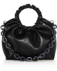 Aqua - Ruffled Circle Handle Bag - Lyst