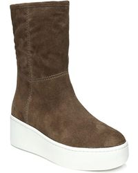 Via Spiga - Women's Elona Suede & Fur Platform Trainer Boots - Lyst