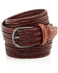 Andersons - Leather Braid Belt - Lyst