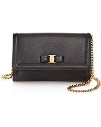 c3296203d7aa Ferragamo - Miss Vara Leather Mini Bag - Lyst