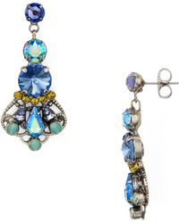 Sorrelli - Cluster Drop Post Earrings - Lyst