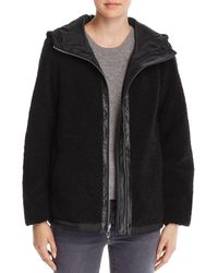 Vince Camuto - Hooded Faux Fur Zip-front Teddy Jacket - Lyst