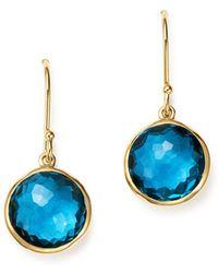 Ippolita - 18k Gold Lollipop Earrings In London Blue Topaz - Lyst