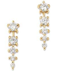 Bloomingdale's - Diamond Graduated Linear Drop Earrings In 14k Yellow Gold - Lyst