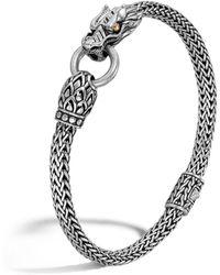 John Hardy - Naga Gold And Silver Dragon Station Chain Bracelet - Lyst