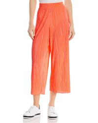 5b631a2eea412 Alice + Olivia - Alice + Olivia Elba Pleated Cropped Wide - Leg Pants - Lyst