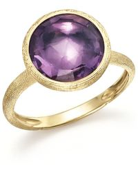Marco Bicego - 18k Yellow Gold Jaipur Ring With Amethyst - Lyst
