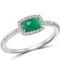 Meira T - 14k White Gold Emerald & Diamond Ring - Lyst