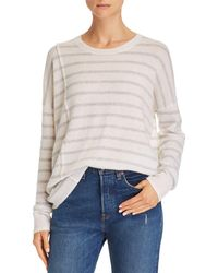ATM - Striped Cashmere Sweater - Lyst
