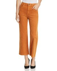 J Brand - Joan High Rise Crop Wide Leg Corduroy Jeans In Titian - Lyst