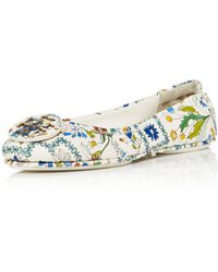 Tory Burch - Minnie Ivory Meadow Folly Travel Ballet Flats - Lyst