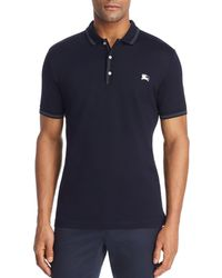 Burberry - Kenforth Mercerized Piqué Polo Shirt - Lyst