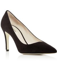 Giorgio Armani - Women's Suede Pointed Toe Court Shoes - Lyst