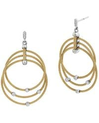 Alor - Yellow Cable Drop Earrings - Lyst