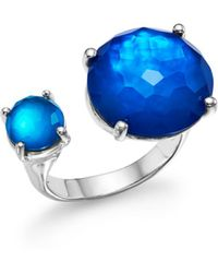 Ippolita - Sterling Silver Rock Candy® Wonderland Duo Stone Open Ring In Island - Lyst