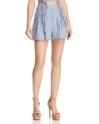 Guess - Hermosa Lace-up Striped Shorts - Lyst
