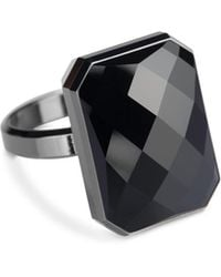 Ringly - Aries Activity Tracker Smart Ring In Onyx - Lyst