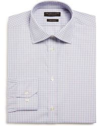 Bloomingdale's - Cross Check Regular Fit Dress Shirt - Lyst