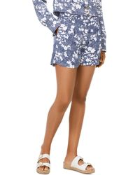 MICHAEL Michael Kors - Pleated Mixed Floral Print Shorts - Lyst