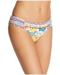 Lucky Brand - Las Dalias Shirred Bikini Bottom - Lyst