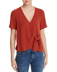 Re:named - Margot Knot-front Wrap Top - Lyst