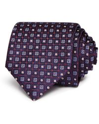 Canali - Neat Squares Silk Classic Tie - Lyst