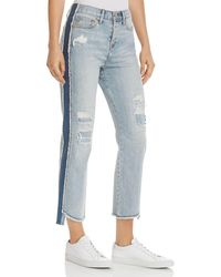 True Religion - High Rise Starr Crop Straight Jeans In Tumbled Fossil - Lyst